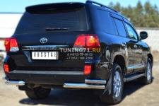 Toyota Land Cruiser 200. 2012- Защита заднего бампера уголки d76(секции) d63 (секции) TLCZ-001648